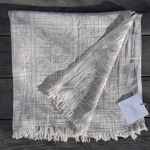 Pestemal Towel or Throw Sikinos Pearl Grey - Unik by Nature