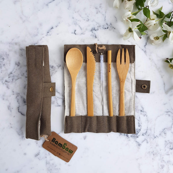 Organic Bamboo Cutlery Set - Unik by Nature