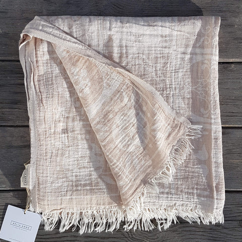 Pestemal Towel or Throw Sikinos Beige - Unik by Nature