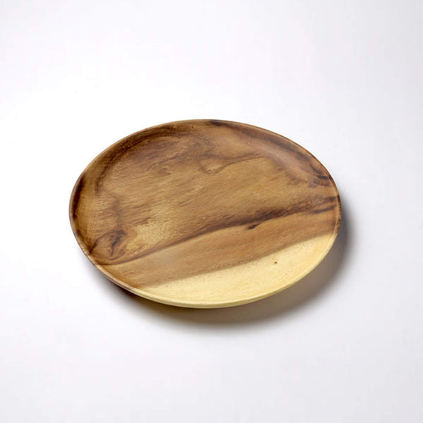 Sustainable Acacia wood Plate Round 28 cm - Unik by Nature