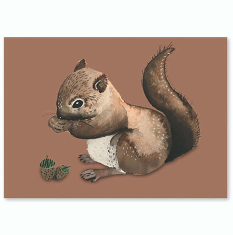 Postcard Super Thick wood pulp board - Squirrel - Unik by Nature