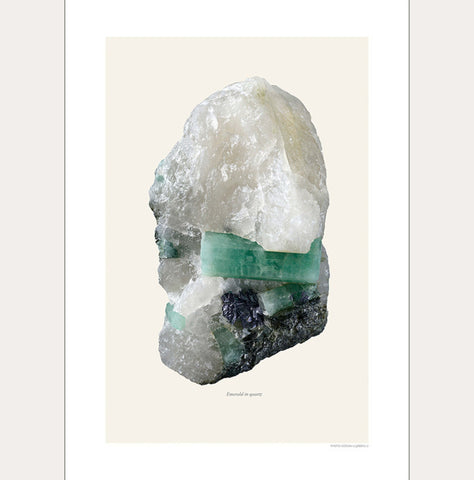 Macro Photography Artprint Emerald in Quartz - Unik by Nature