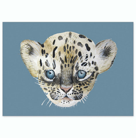 Postcard Super Thick wood pulp board - Leopard - Unik by Nature