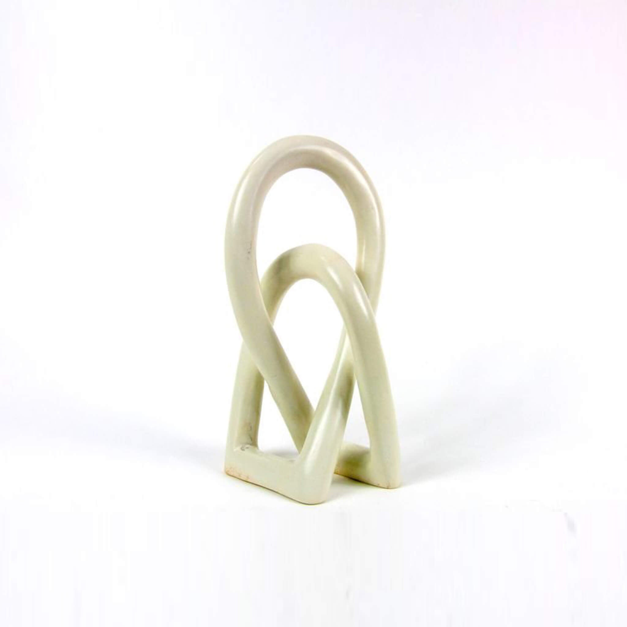 Knots Minimal sculpture handcarved soapstone - Unik by Nature