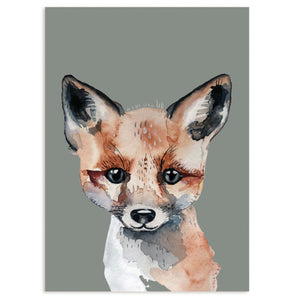 Postcard Super Thick wood pulp board - Fox - Unik by Nature