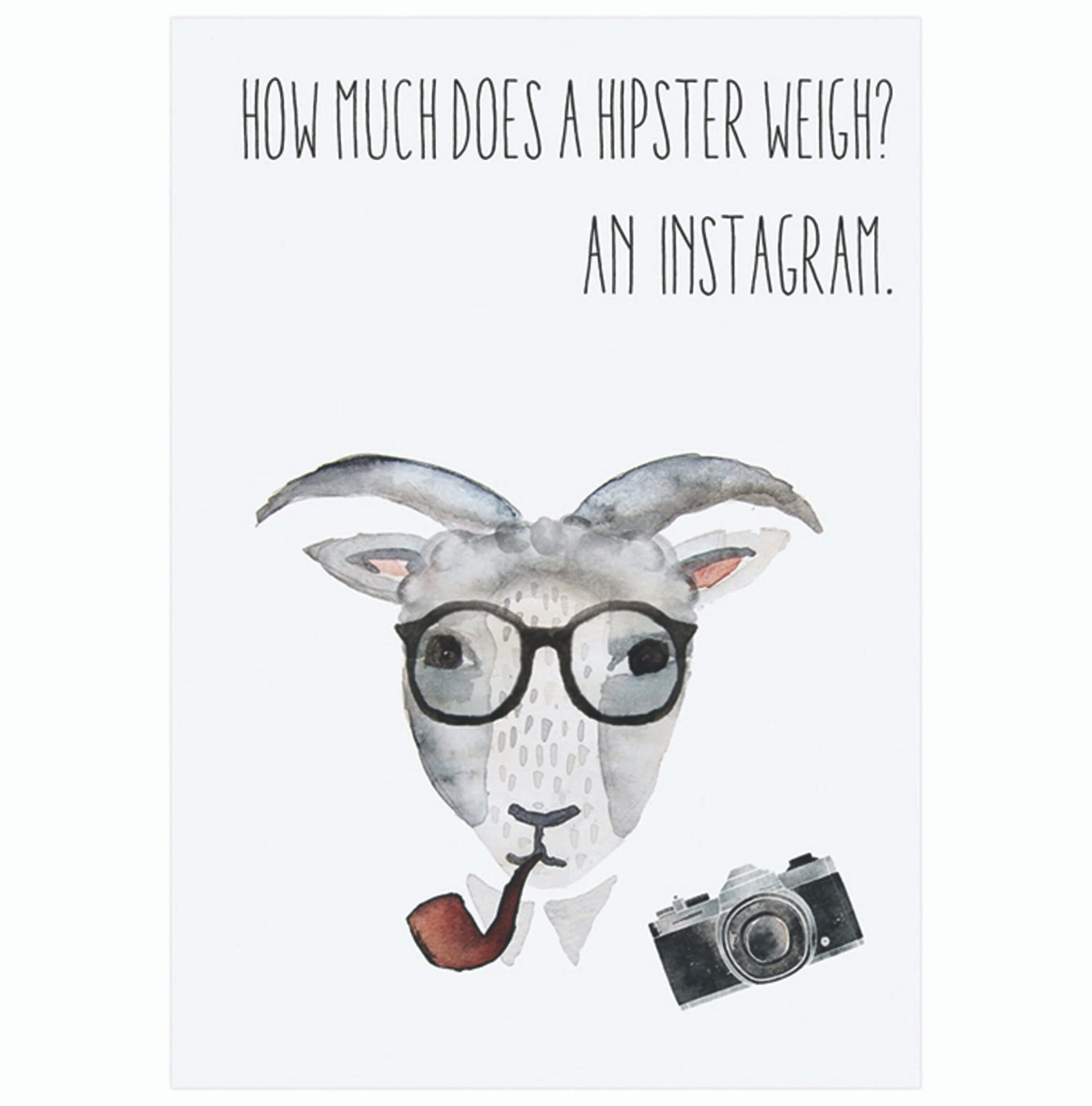 Postcard Hipster Goat - Unik by Nature