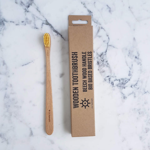 Beechwood Toothbrush with biobased bristles - Unik by Nature