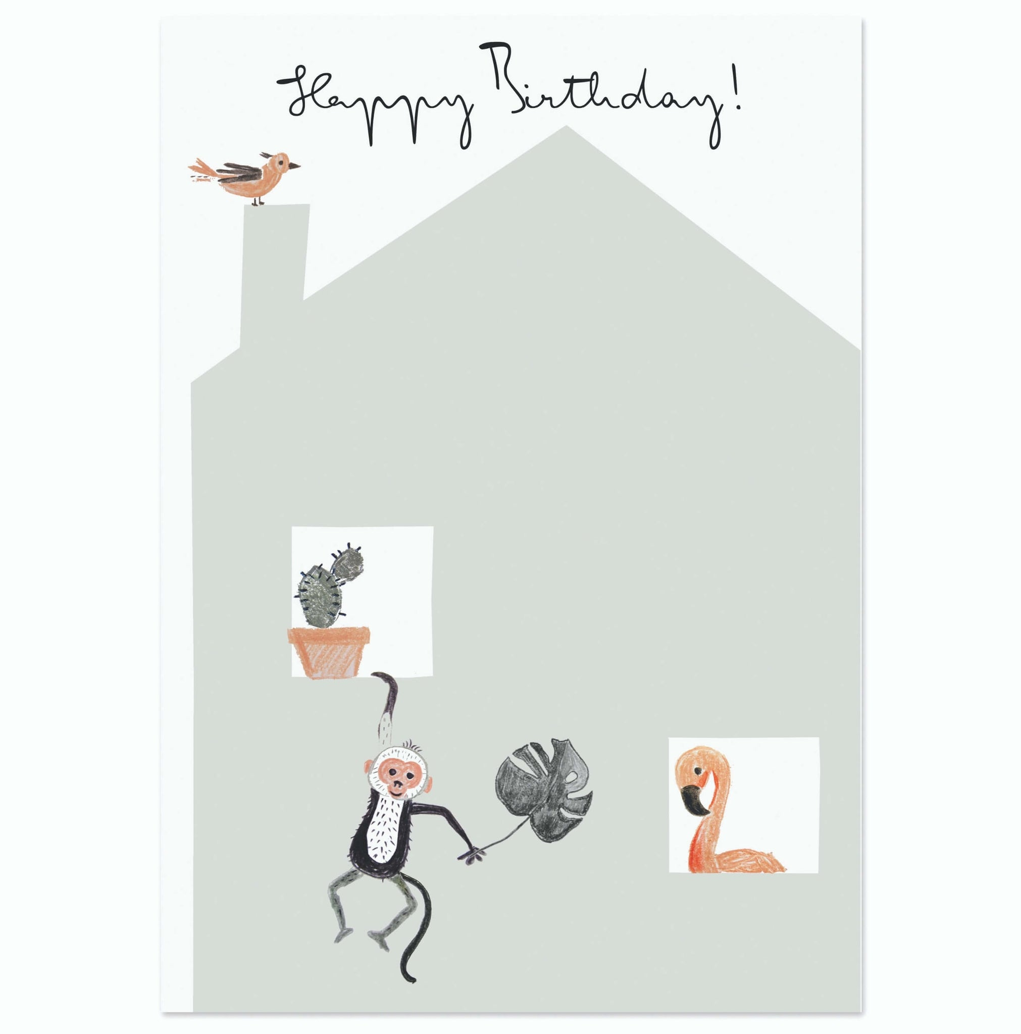 Postcard Happy Birthday (house) - Unik by Nature