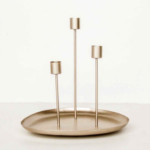 Iron Candle holder frosted gold - Unik by Nature
