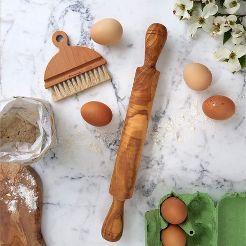Sustainable Olive wood Handmade Rolling Pin - Unik by Nature