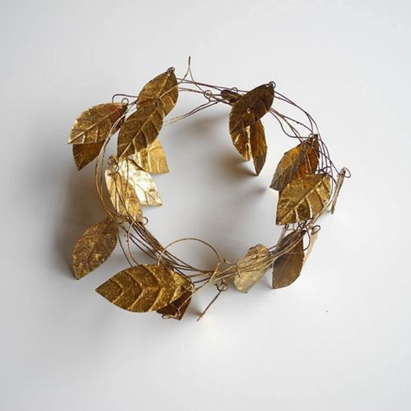 Garland with Gold leaves handmade - Unik by Nature