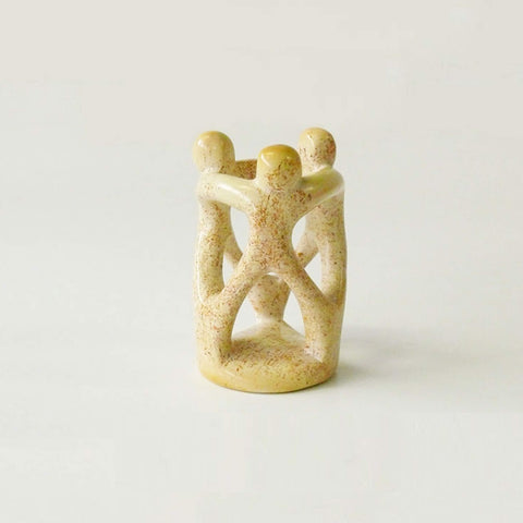 3 Dancers Minimal sculpture handcarved soapstone - Unik by Nature