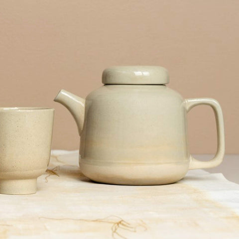 Teapot Rutunda dotted clay 1250 ml - Unik by Nature