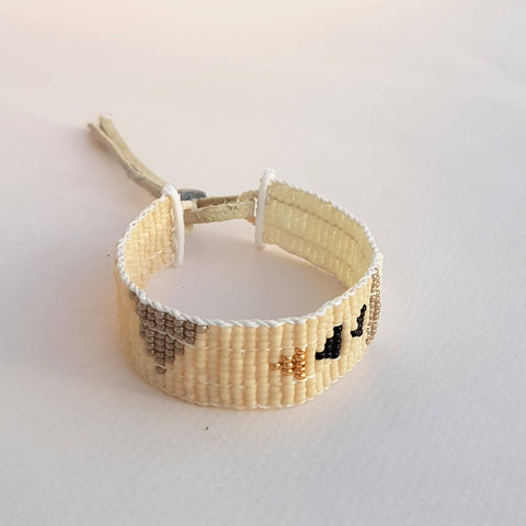 Bracelet Pembetatu Warrior Pink, Gold, Black, Taupe, Off White - Unik by Nature