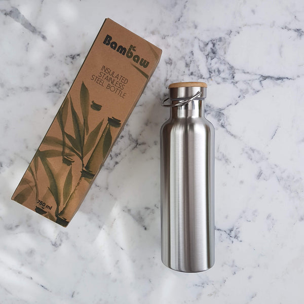 Insulated Stainless Steel Bottle 750ml - Unik by Nature