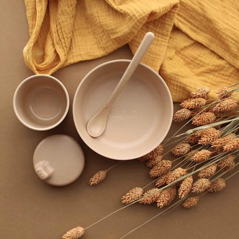 Organic Bamboo Tableware Set - 4 pieces - Unik by Nature