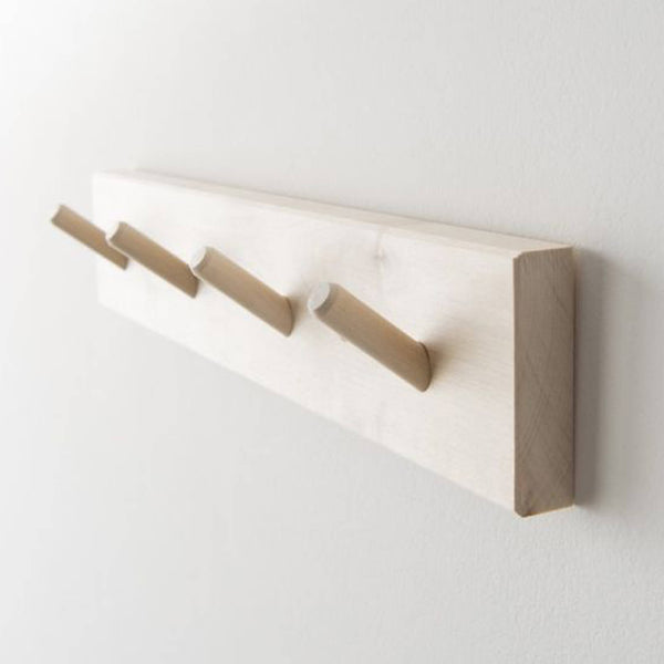 Iris Hantverk Rack with 4 Hooks Birch Wood - Unik by Nature