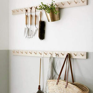 Rack with 7 Hooks Birch Wood - Unik by Nature