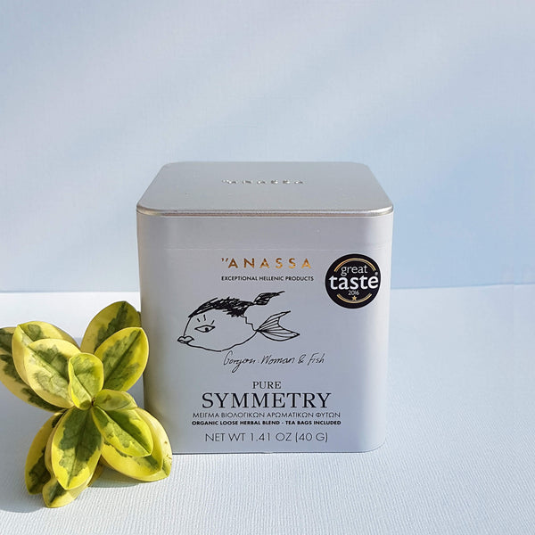 Anassa Pure Symmetry Organic Loose Herbal Blend - Tea bags included - Unik by Nature