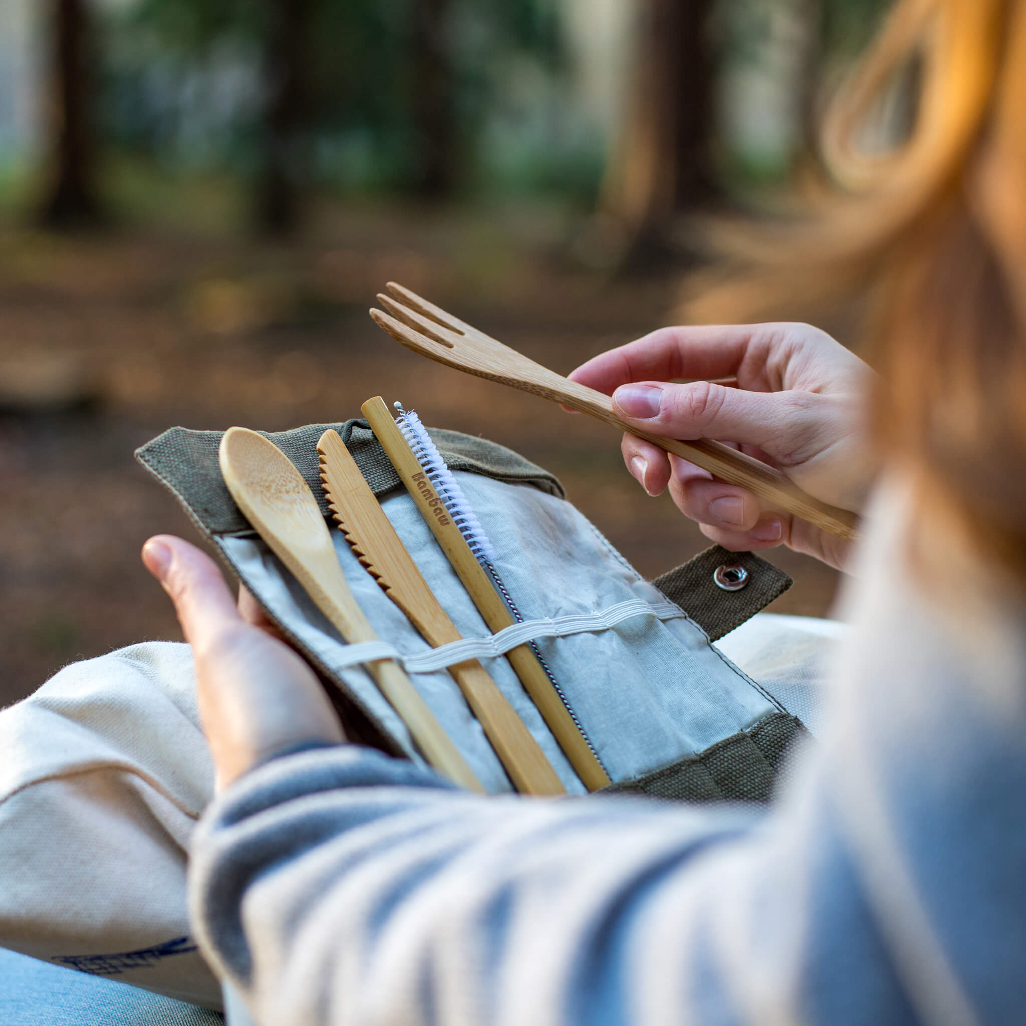 Bambaw Organic Bamboo Cutlery Set - Unik by Nature