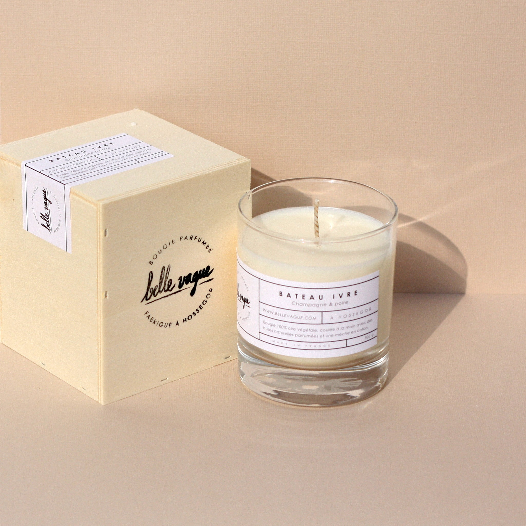 Belle Vague Bateau Ivre Scented Candel Champagne & Pear - Unik by Nature