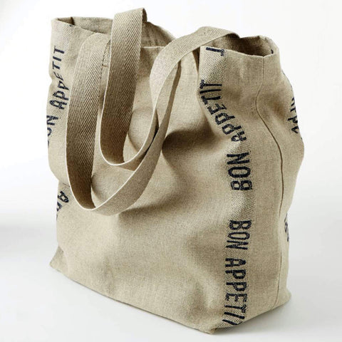 Charvet Éditions Bon Appetit Tote Bag Natural Linen Made in France