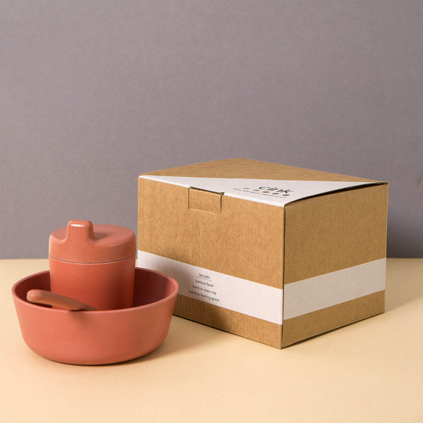 Cink Kids Organic Bamboo Tableware Gift Box Fog Color - Unik by Nature