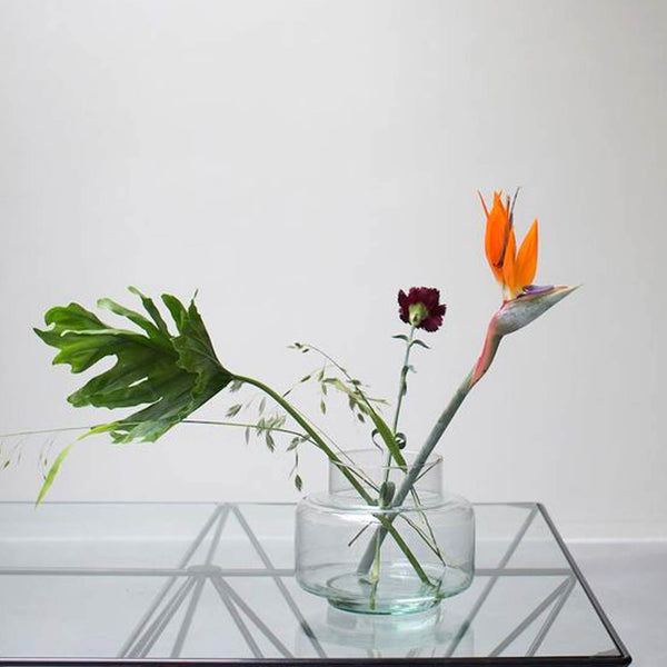 Recycled Glass Vase Handmade - Unik by Nature