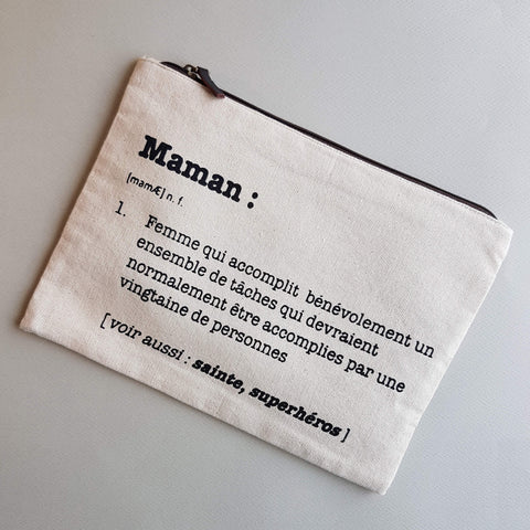 "Hindbag ""Maman"" Multi Purpose Pouch Handmade Natural Cotton White Ecru"