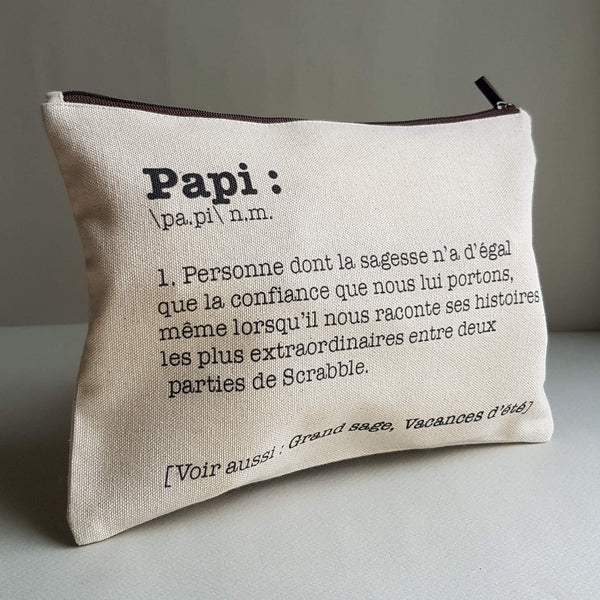 Papi Pouch Handmade Natural Cotton White Ecru - Unik by Nature