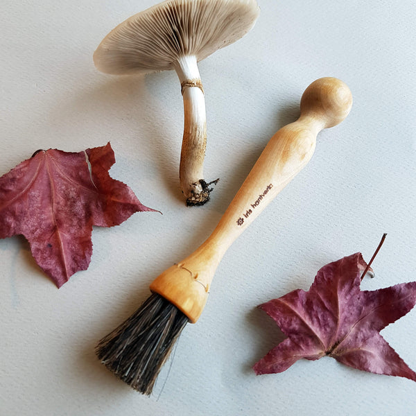 Iris Hantverk Mushroom Brush Handmade Oiltreated Birch & Horsehair - Unik by Nature