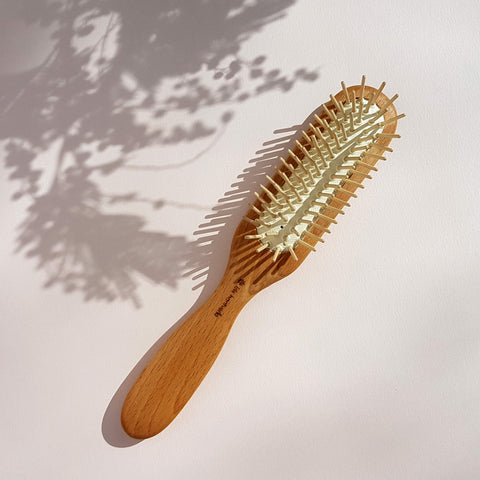 Hair Brush Beech Wood and Wooden pins - Unik by Nature