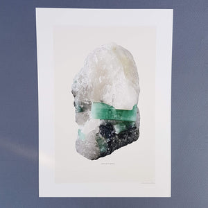 Liljebergs Macro Photography Artprint Emerald in Quartz - Unik by Nature
