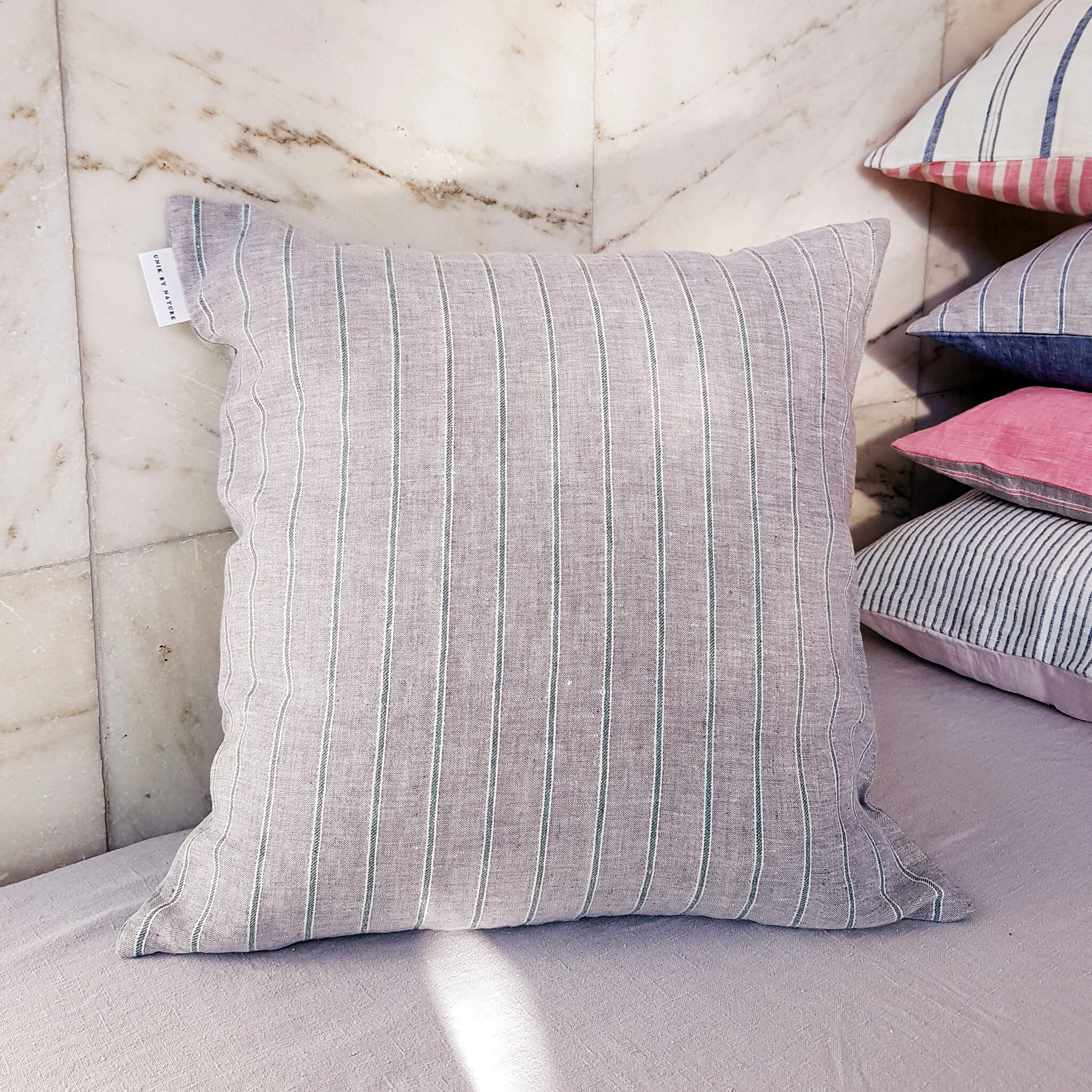 Unik by Nature Korpo Linen Cushion Cover 50 x 50 Sea Kale Green - Unik by Nature