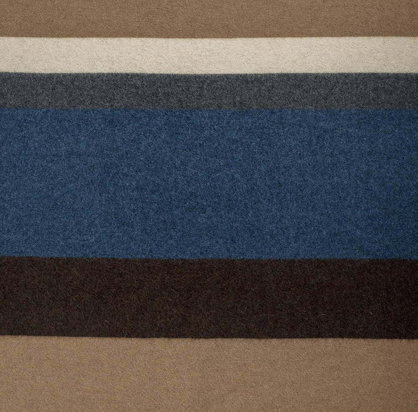La Méricaine Wool Cape Sank Blue Stone Stripes - Unik by Nature
