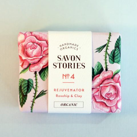 Savon Stories Rejuvenating & Antioxidant Rosehip & Pink Clay Bar Wash - Unik by Nature