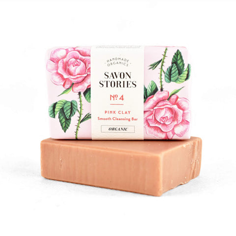 Savon Stories N°4 Organic Pink Clay Rejuvenator Bar Soap - Unik by Nature