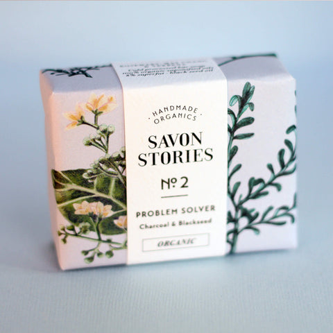 Savon Stories Clarifying Problem Solver Characol & Blackseed Bar Wash - Unik by Nature