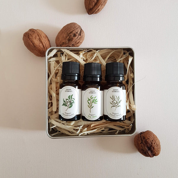 Organic Winter Essential Oils 3 pack Gift Box - Unik by Nature