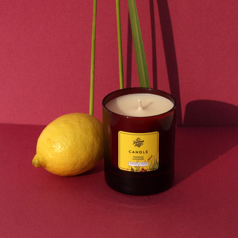 The Handmade Soap Company Scented Candle Lemongrass & Cedar Wood Candle - Unik by Nature