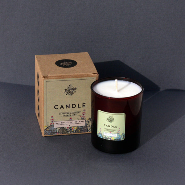 Scented Candle Lavender Rosemary Thyme & Mint - Unik by Nature