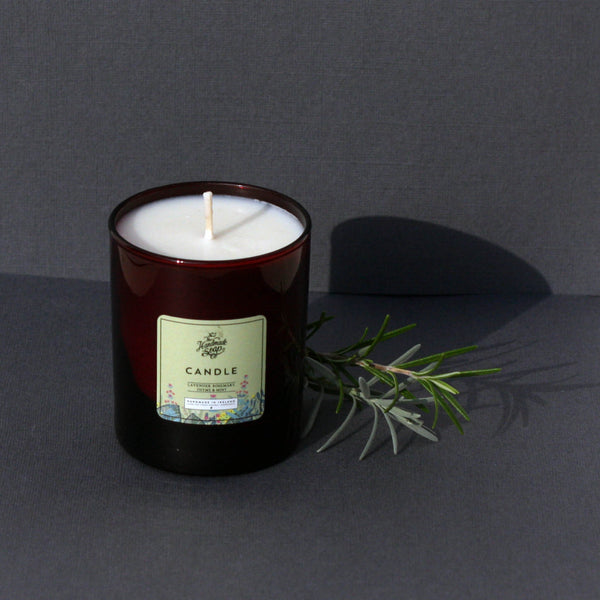 The Handmade Soap Company Scented Candle Lavender Rosemary Thyme & Mint - Unik by Nature