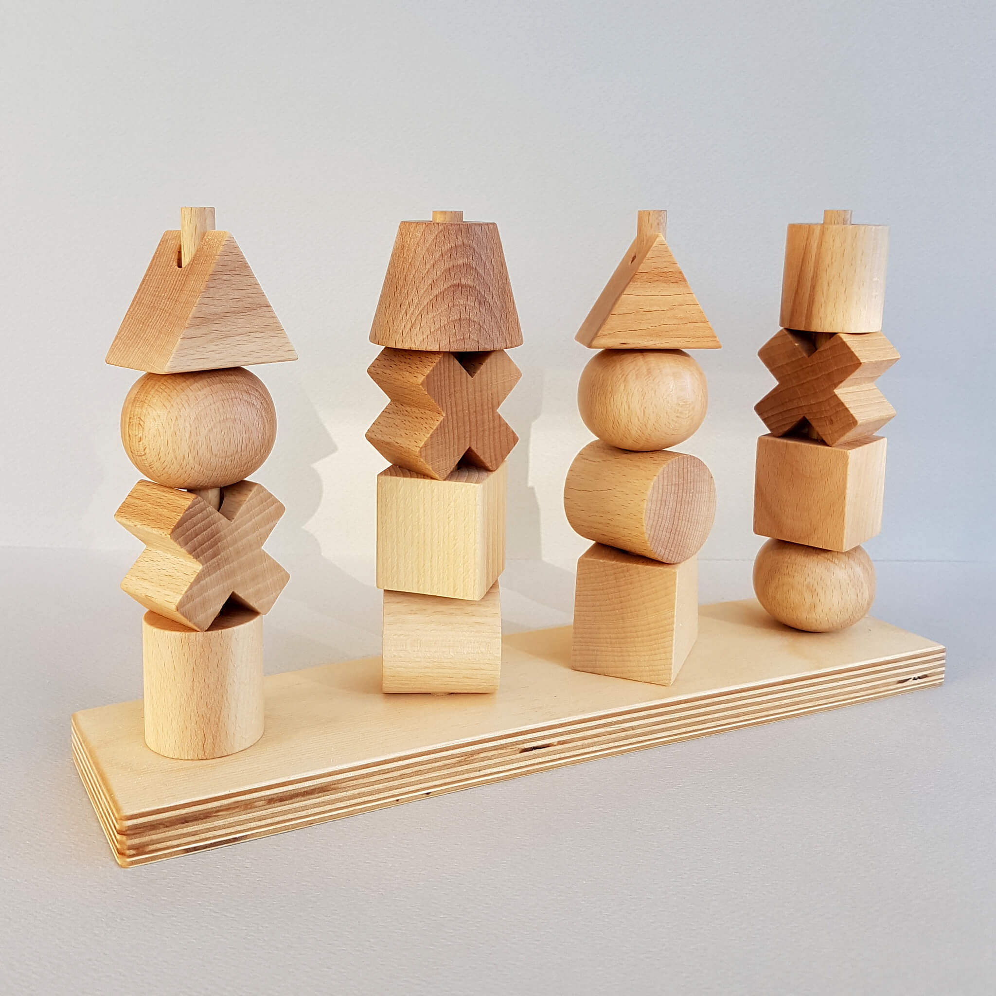 Wooden Story Natural Stacking Toy Handcrafted in Poland