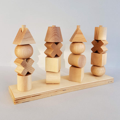 Wooden Story Natural Stacking Toy Handcrafted - Unik by Nature