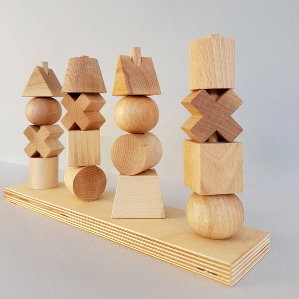 Natural Stacking Toy Handcrafted - Unik by Nature