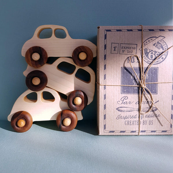 Wooden Story Natural Little '30s Car Handcrafted - Unik by Nature