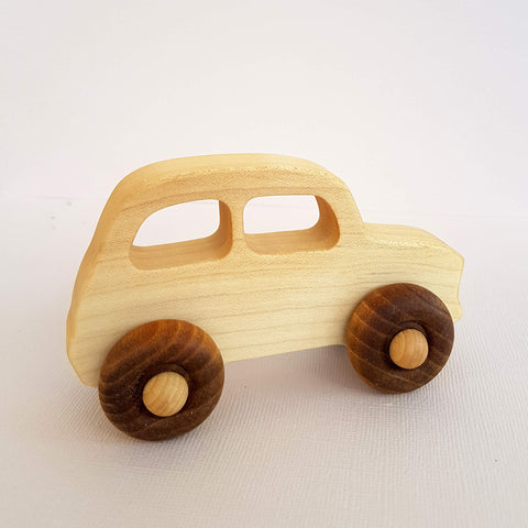 Wooden Story Natural Little French Car Handcrafted in Poland - Unik by Nature