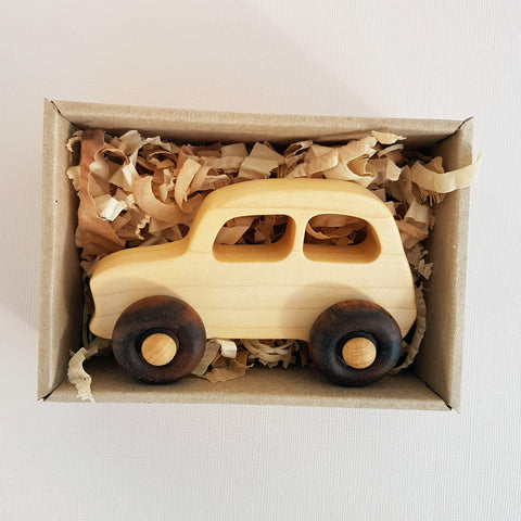Wooden Story Natural Little French Car Handcrafted - Unik by Nature