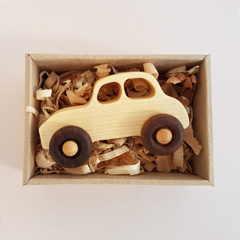 Wooden Story Natural Little '50s Car Handcrafted - Unik by Nature