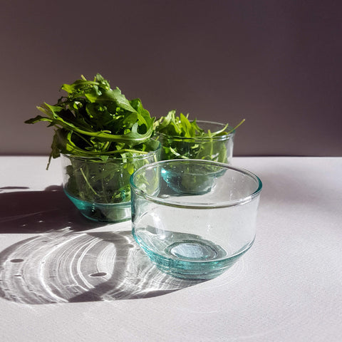 UNC Amsterdam Recycled Glass Bowl Handmade - Unik by Nature